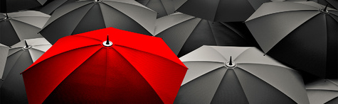 Umbrellas-black-with-one-red-B1